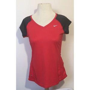 Women's Nike DriFit Shirt size S Red Gray